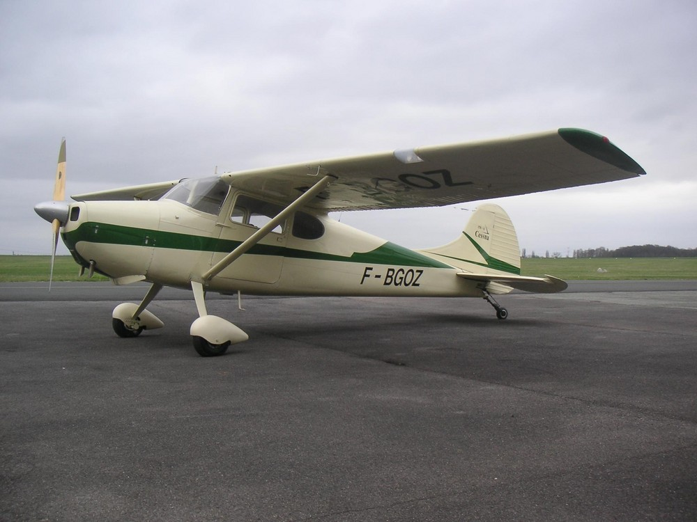 Cessna 170, moteur continental 140cv