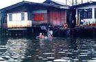 c'est l'heure du bain dans le Mékong