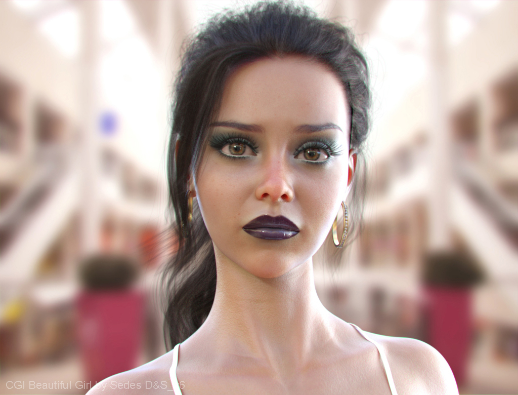 CGI Beautiful Girl by Sedes D&S_v6b