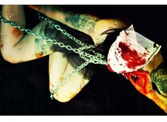 ...chained...