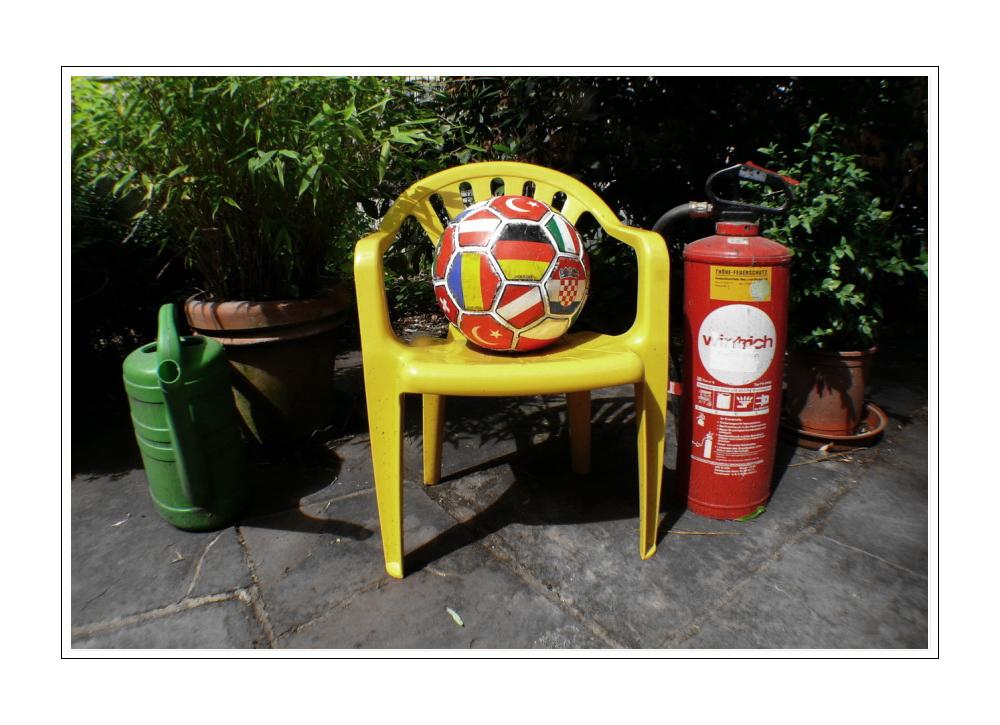 Chair baby hat vorgesorgt, falls es morgen zu hitzig zugeht....