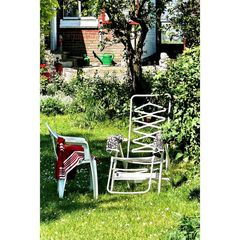 chair oma sunbathing naked (in neighbor's garden.. yes, it was this year)