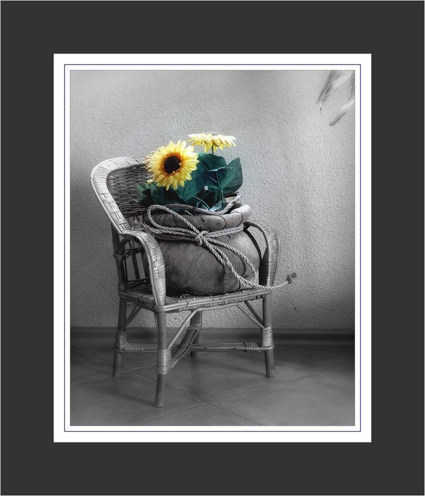 chaise aux tournesols
