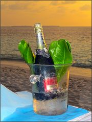 Champagner in der Abenddämmerung