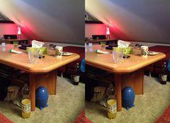Chaos auf dem Wohnzimmertisch 3D