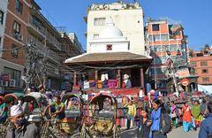 Chaos in der Altstadt von Kathmandu