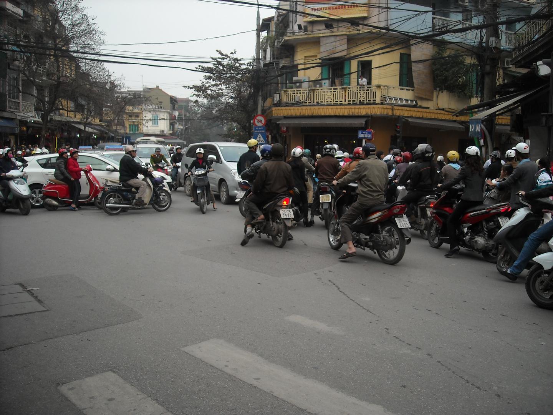 chaotischen Kreuzung in Hanoi