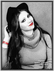 """""""Chapeau noir et rouge à lèvres"""" (Rouge Coco)"""