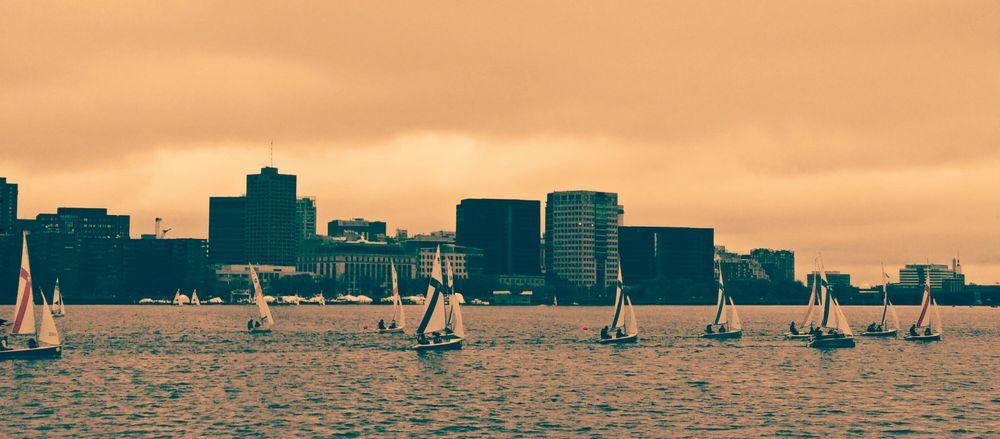 Charles River in Boston City in the 80's ;)