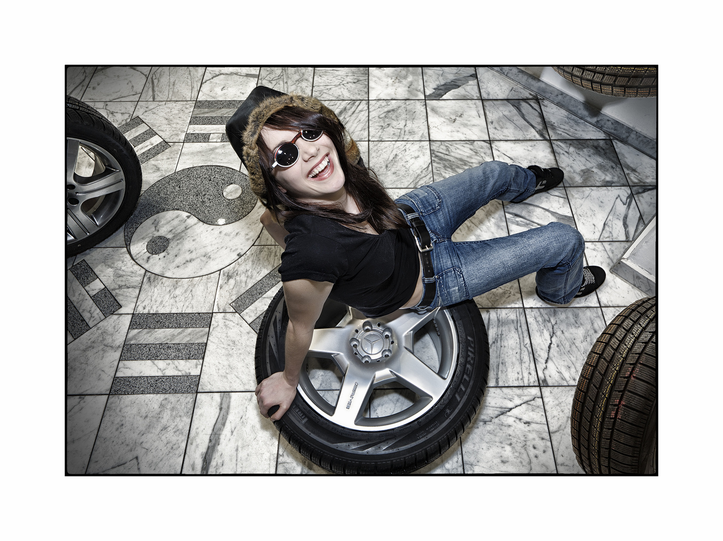charmanter Reifenwechsel ;)