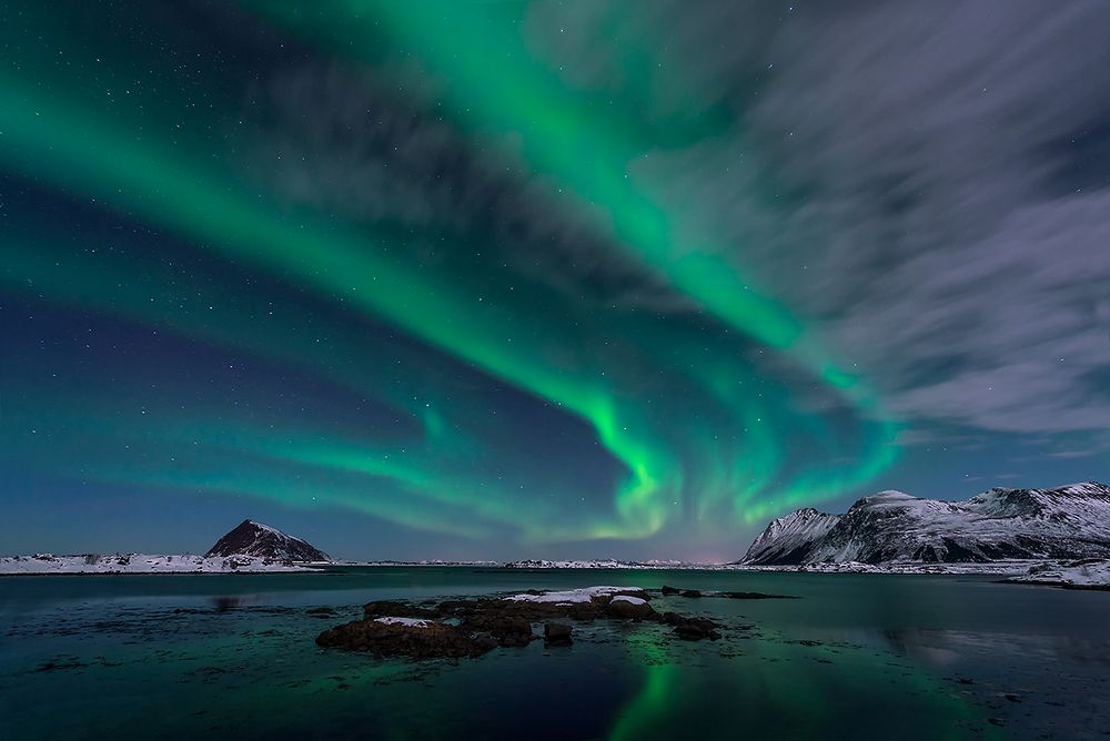 chasing clouds and aurora borealis