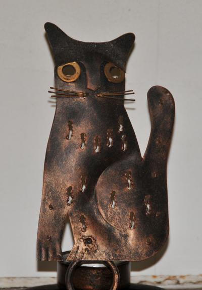 chat cuivré