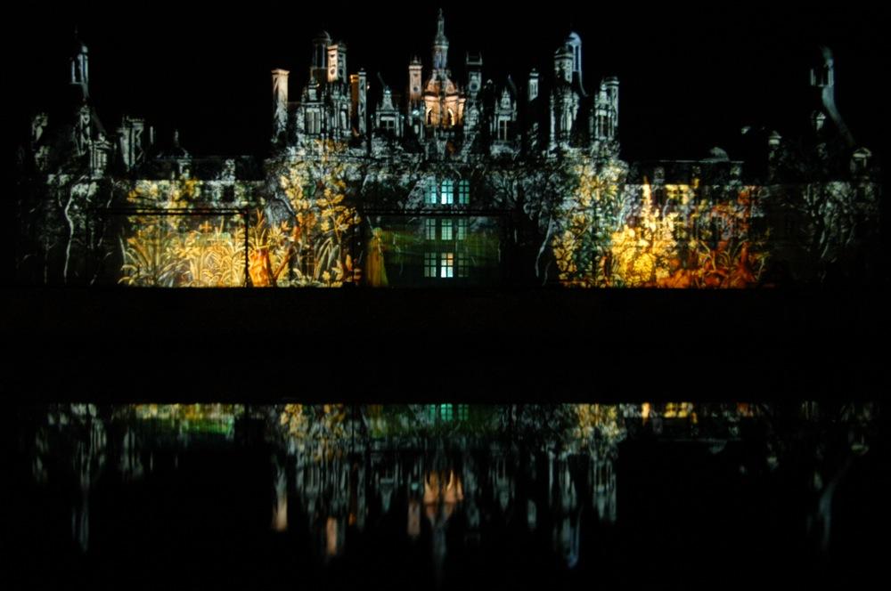 Chateau Chambord bei Nacht