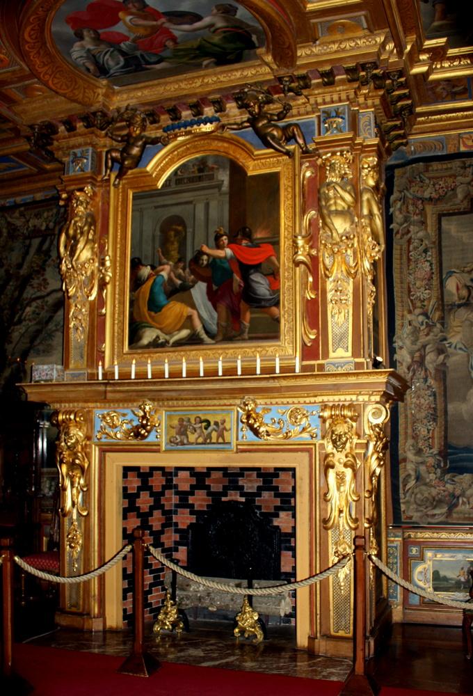 chateau de cour cheverny 39 41 cheminee de la chambre du roi photo et image europe france. Black Bedroom Furniture Sets. Home Design Ideas