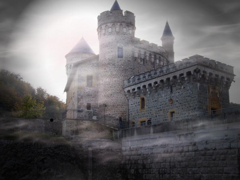 """Chateau de la Roche à Saint Priest La Roche """"loire"""""""