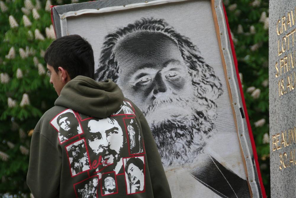 Che und Karl 1MAI 2009 Stuttgart Kundgebung Ü622K