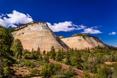 Checkerboard Mesa, Zion NP, Utah, USA