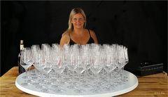 Chefin der Weingläser