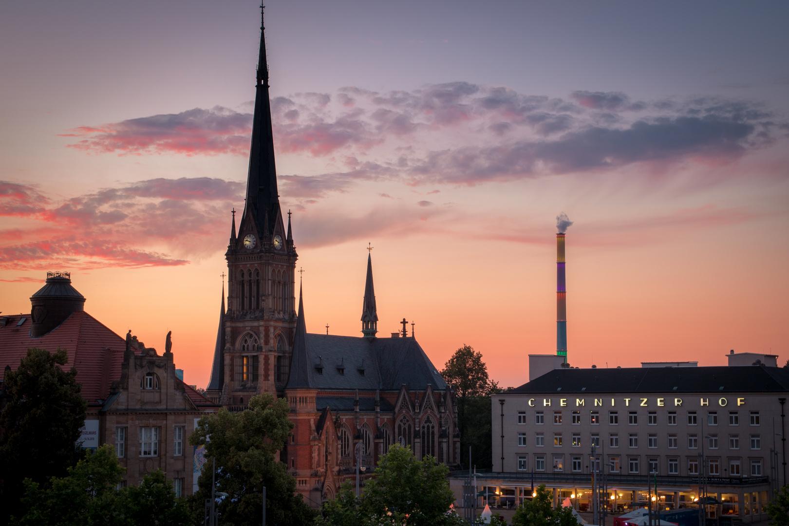 Chemnitz Theaterplatz HDR