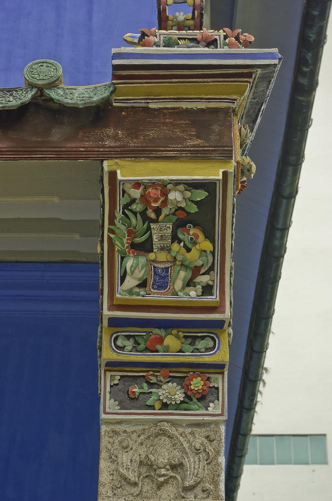 Cheong Fatt Tze Mansion, Fassaden-Detail
