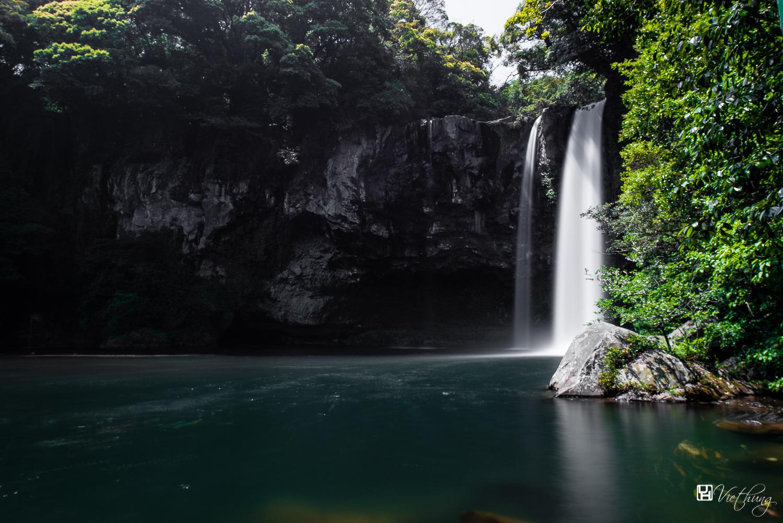 Cheonjiyeon waterfall in Jeju