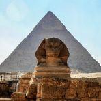 Chephren Pyramide und die große Sphinx