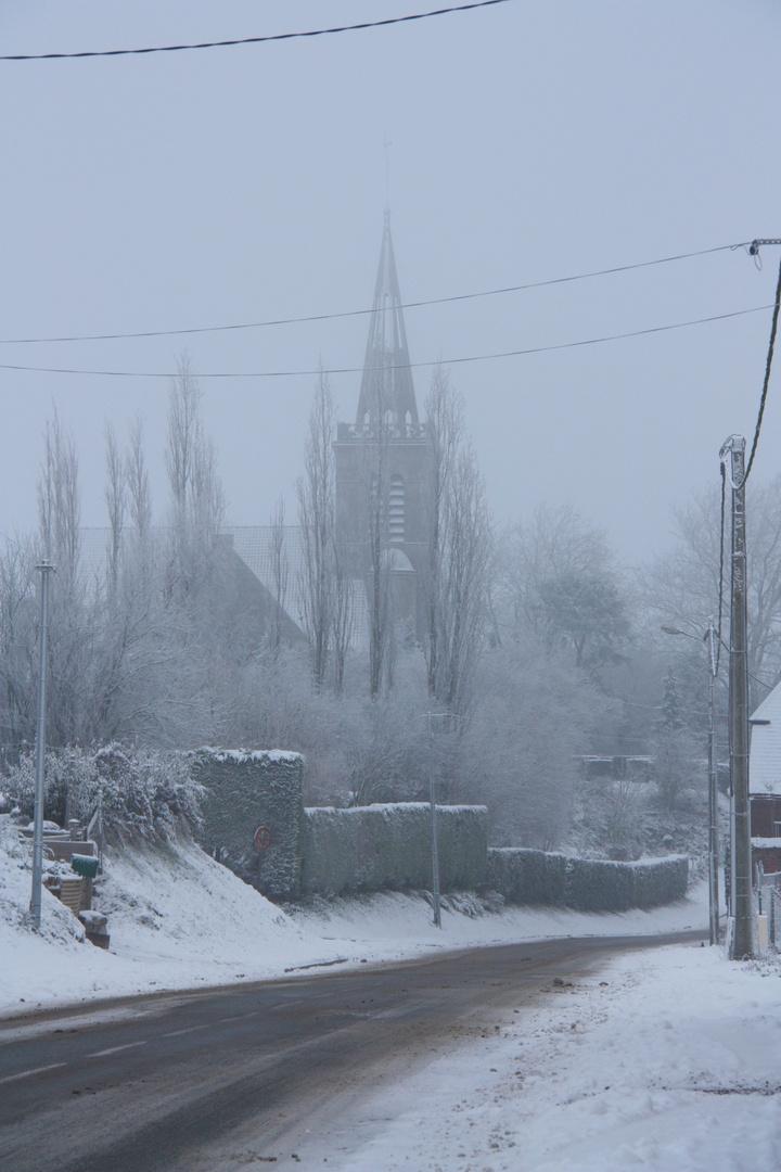 Chérisy en hiver