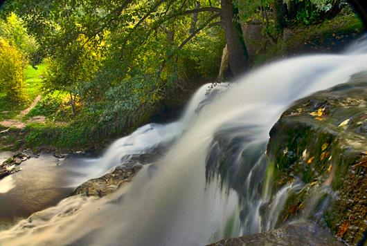 Chervonogradska Wasserfall. Die Ukraine.