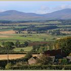 cheviot hills from old lyham Northumberland