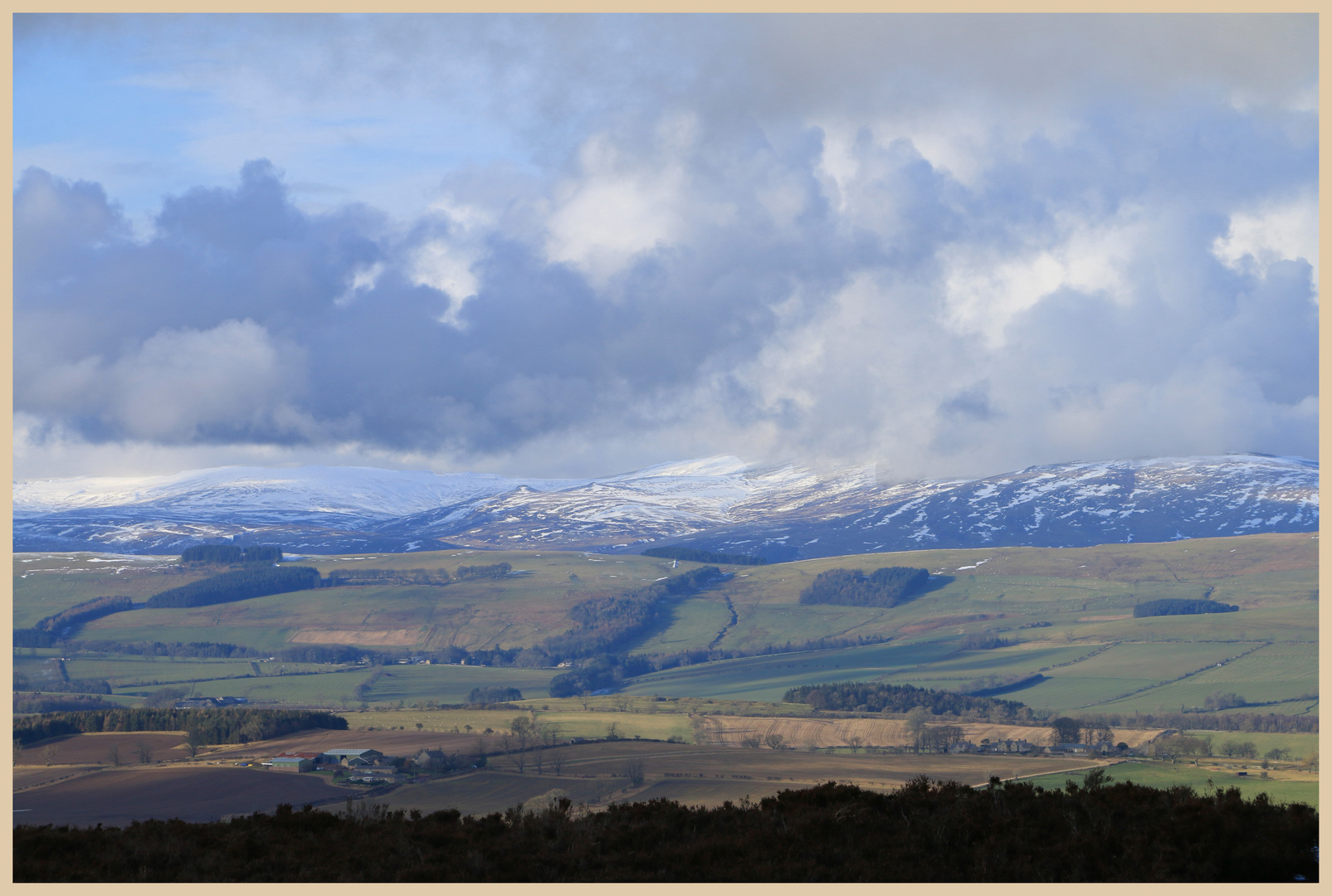 Cheviot Hills from thrunton crags 3