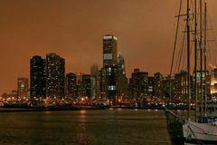 Chicago am Abend