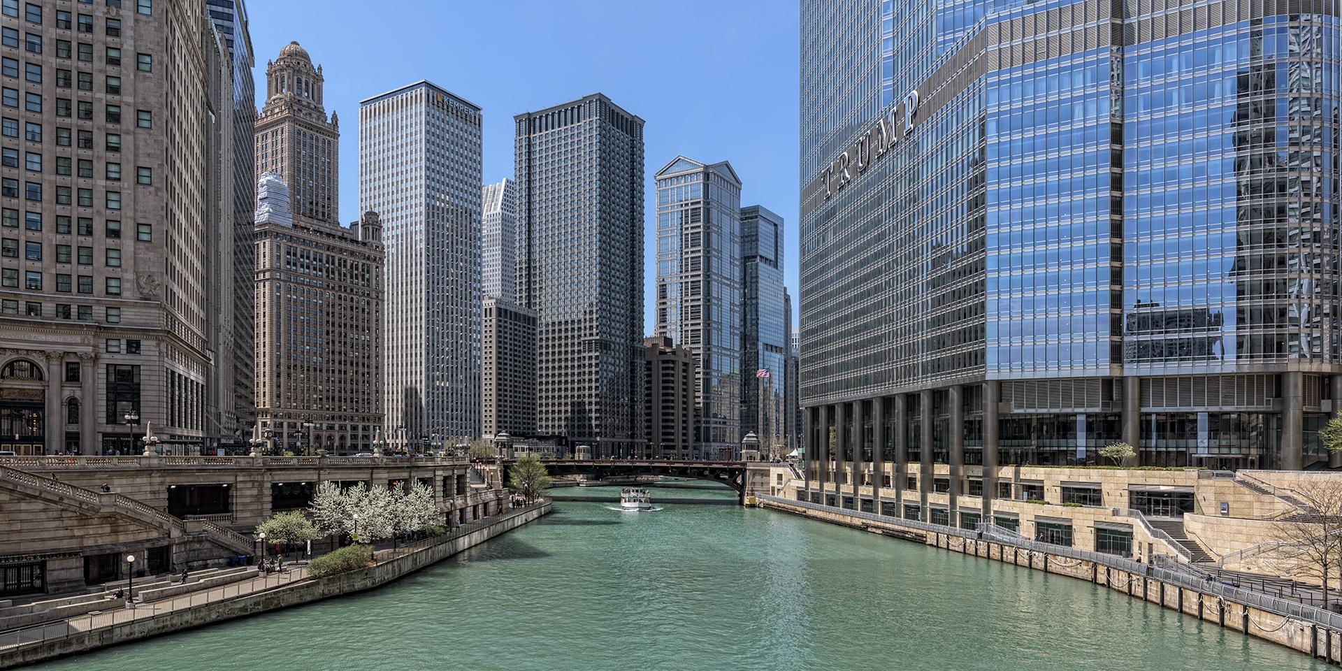 Chicago - Blick von der DuSable Bridge