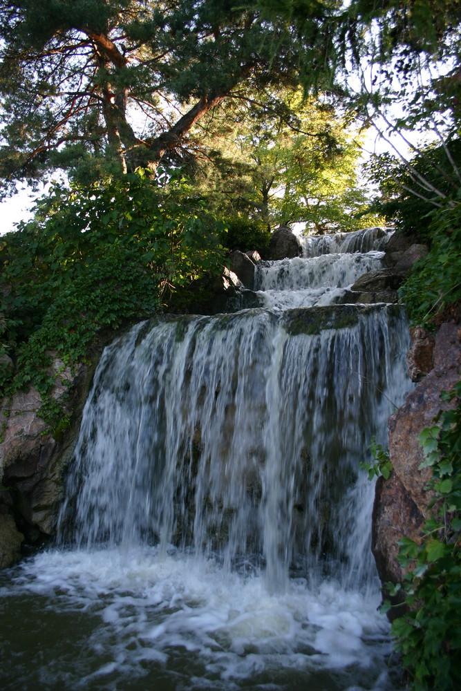 Chicago Botanic gardens waterfall