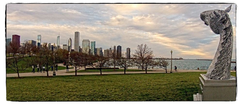 Chicago - Skyline from Museum Campus