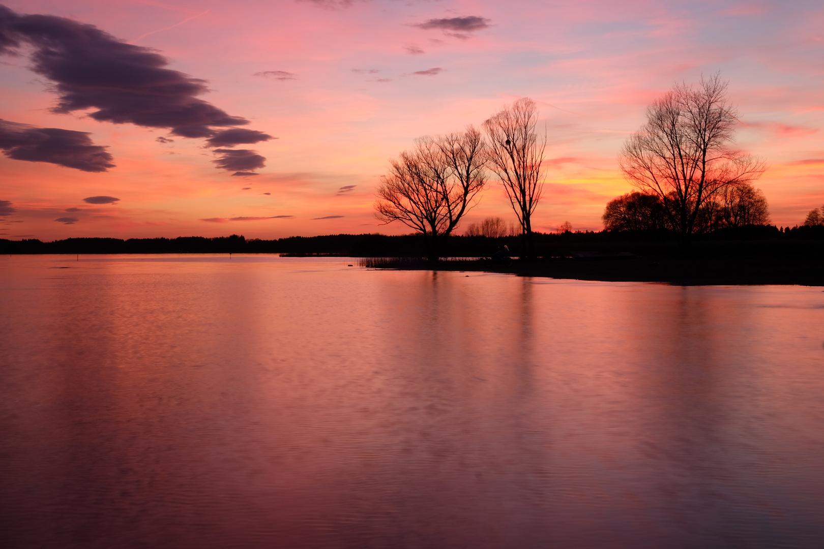 Chiemsee nach Sonnenuntergang