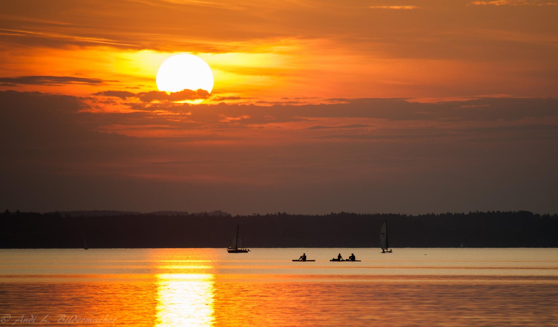 ...Chiemsee-Sonnenuntergang....