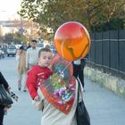 child and a balloon