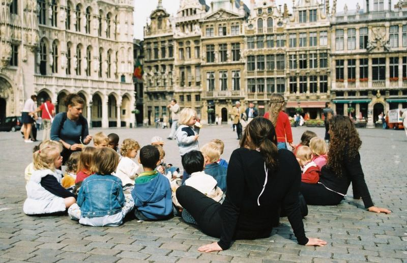 Children on Brussels Grand Place