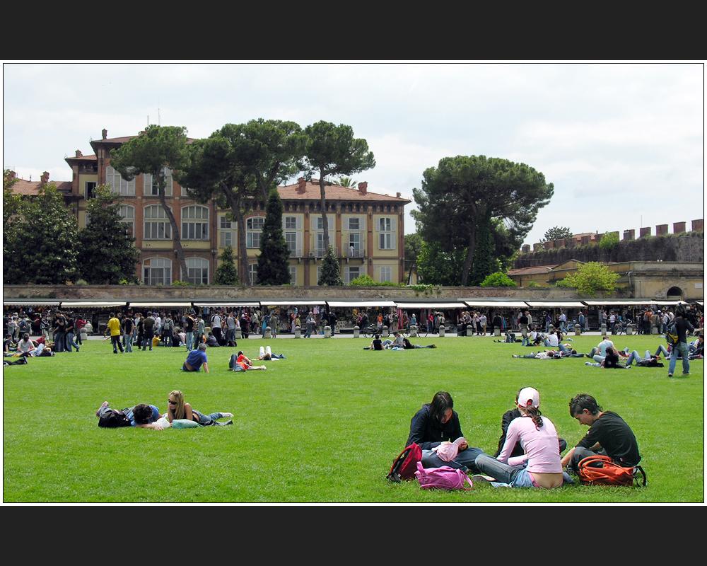 Chillen in Pisa