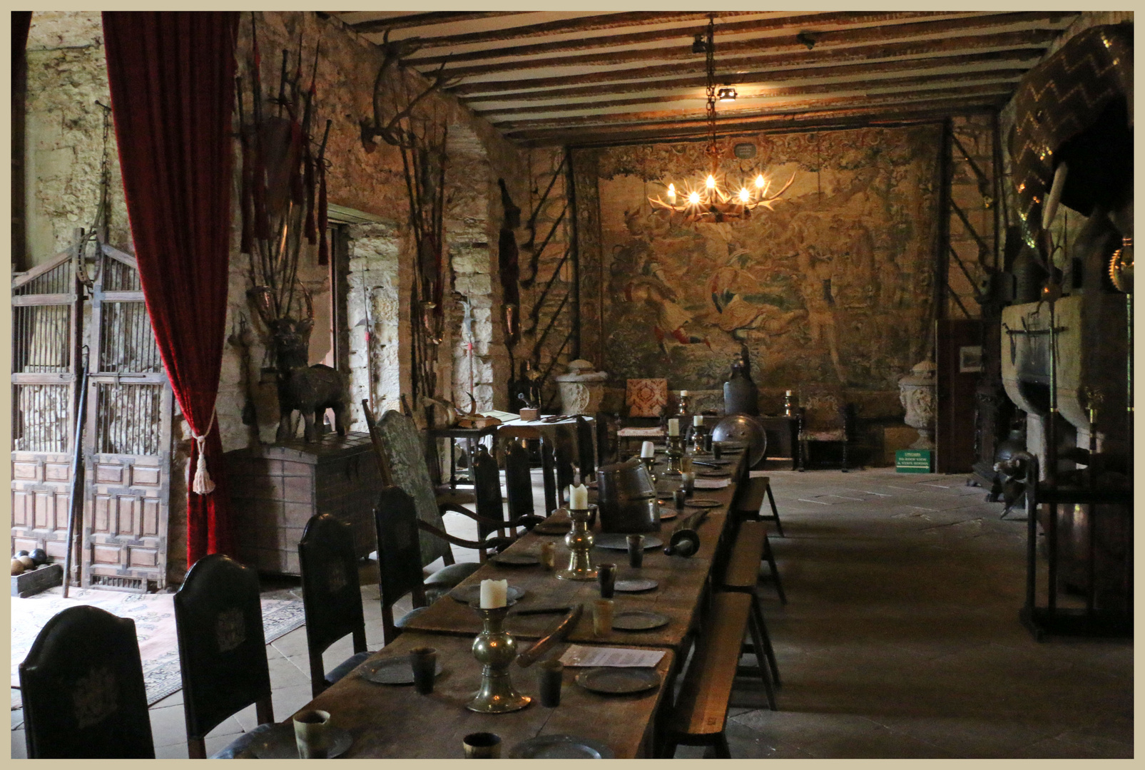 chillingham castle the main hall