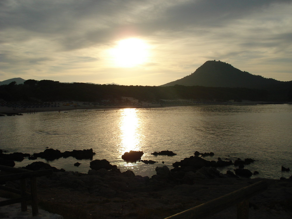 chillout sunset in Cala Agulla.............