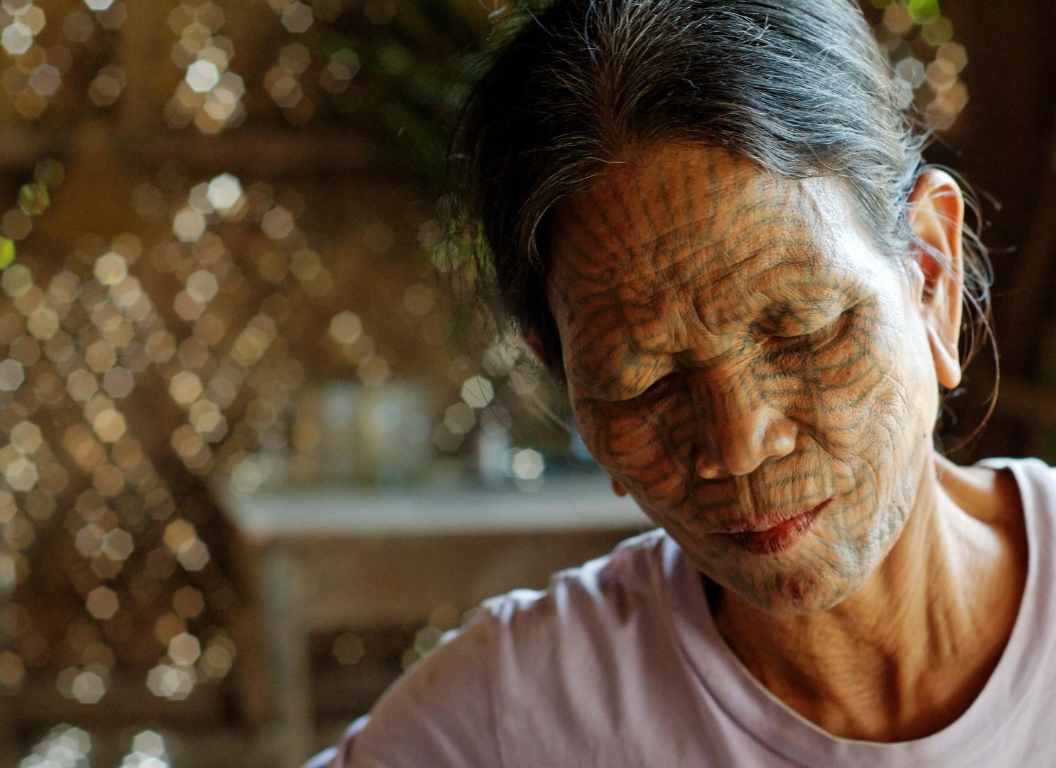Chin woman, Myanmar