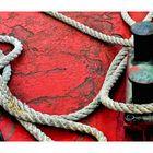 China - Tauwerk und Poller / Ropes and bollards