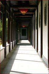 Chinagarten in Farbe und kleinem Rahmen