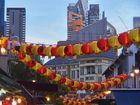 Chinatown celebrating Chinese New Year