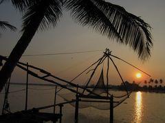 chinese fishernet sunset