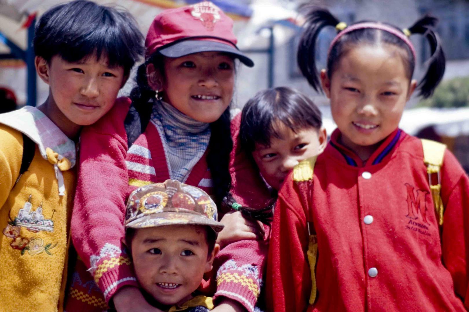 Chinese's kids in Tibet