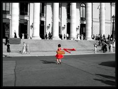 Chinesin vor der Oper