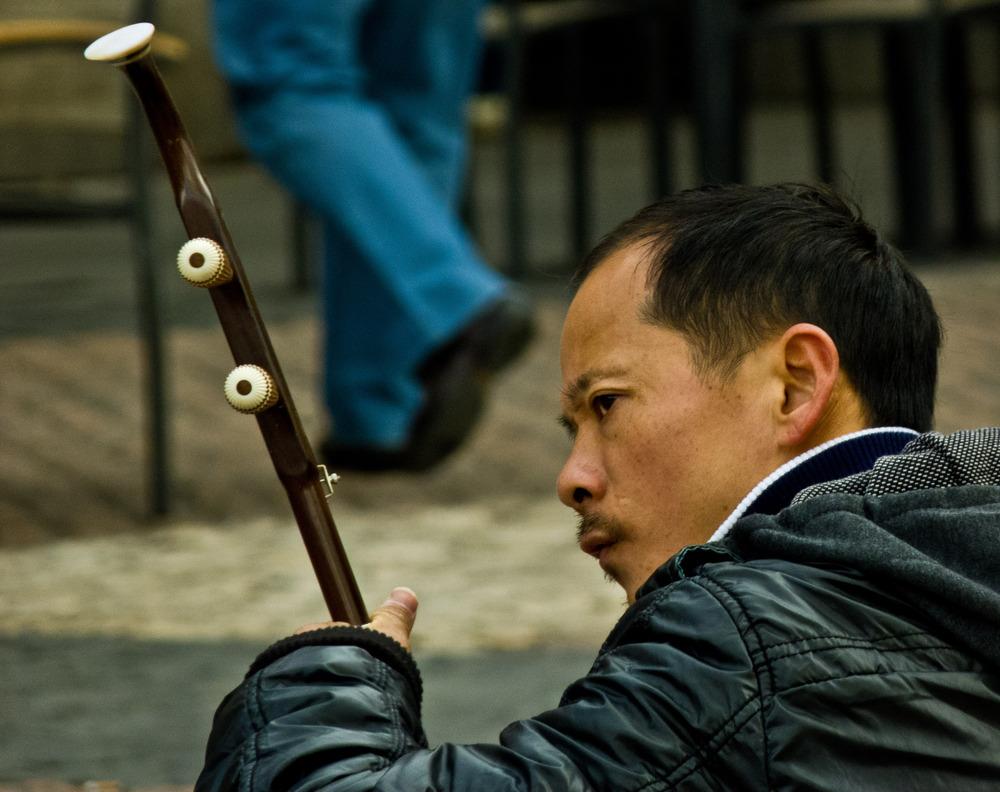 ...chinos en la plaza mayor...