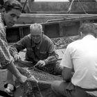 CHIOGGIA 1955-Rammendo delle reti